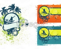 Link tovector banner style vintage theme surf Current