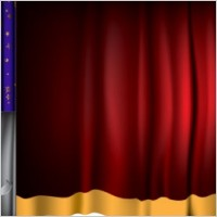 Link toCurtain background vector