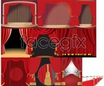Link toCurtain stage background vector