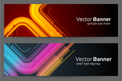 Link toCurve of neon backgrounds vector