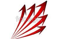 Link toCurved red arrow vector