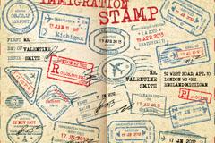 Link toCustoms stamp vector