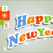 Link toCute 3d happy new year text design vector free