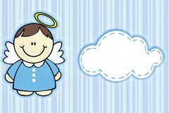 Cute angel background vector