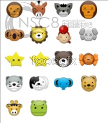 Link toCute animal avatar small icons