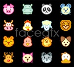 Link toCute animal avatar vector