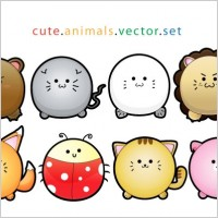 Link toCute animals vector