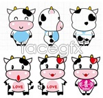 Link toCute apron cow vector