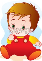 Link toCute baby 2 vector