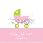 Link toCute baby greeting card vector