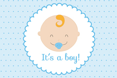 Link toCute baby picture card vector