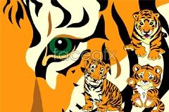 Link toCute baby tiger vector