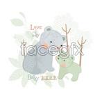 Link toCute bear vector