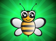 Link toCute bee vector free