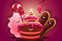 Link toCute birthday cake vector