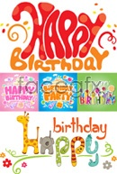 Link toCute birthday party flyer vector