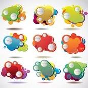 Link toCute bubble box design vector