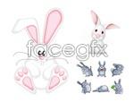 Link toCute bunny vector