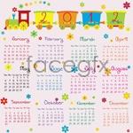 Link toCute calendar 2012 vector