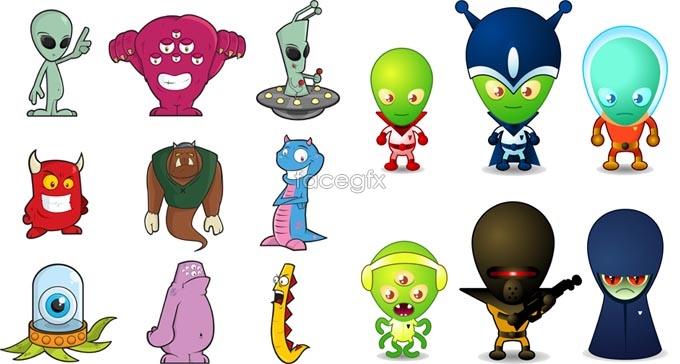 Link toCute cartoon aliens