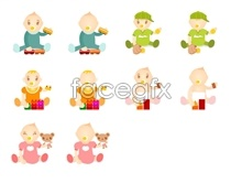 Link toCute cartoon baby icons