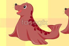 Link tovector seal baby cartoon Cute
