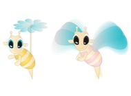 Link toCute cartoon bees vector free