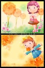 Link toCute cartoon characters 2 vector