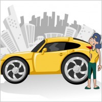 Link toCute cartoon characters and car 03 vector