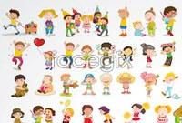 Link toCute cartoon children baby vector