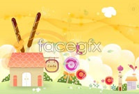 Link toCute cartoon children design elements vector