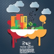 Link toCute cartoon city background vector 05 free