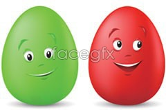 Link toCute cartoon color eggs vector