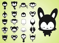 Link toCute cartoon creatures vector free