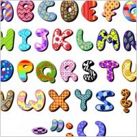 Link toCute cartoon design series 04 letters vector