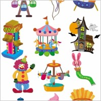 Link toCute cartoon icon playground 02 vector