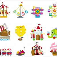 Link toCute cartoon icon playground 03 vector