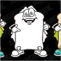 Link toCute cartoon image of the vector bulletin board material