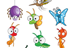 Link toCute cartoon insect vector