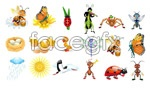 Link toCute cartoon insects vector