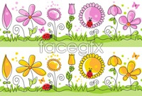 Link toCute cartoon ornament pattern vector