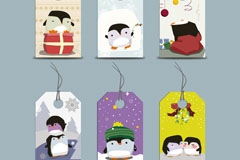 Link toCute cartoon penguin tag vector