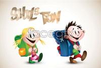 Link toCute cartoon primary vector
