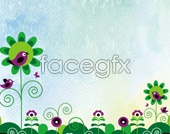 Link toCute cartoon psd background