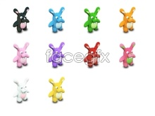 Link toCute cartoon rabbit icons