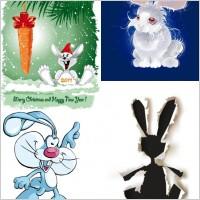 Link toCute cartoon rabbit image vector