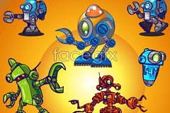 Link toCute cartoon robots vector
