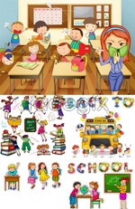 Link toCute cartoon student vector