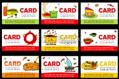 Link toCute cartoon style food and beverage card vector