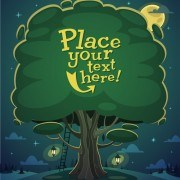 Link toCute cartoon trees vector background graphics 03